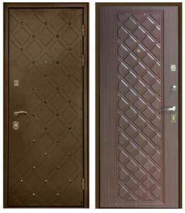 Стальная дверь Сундук в цвете махагон.jpg